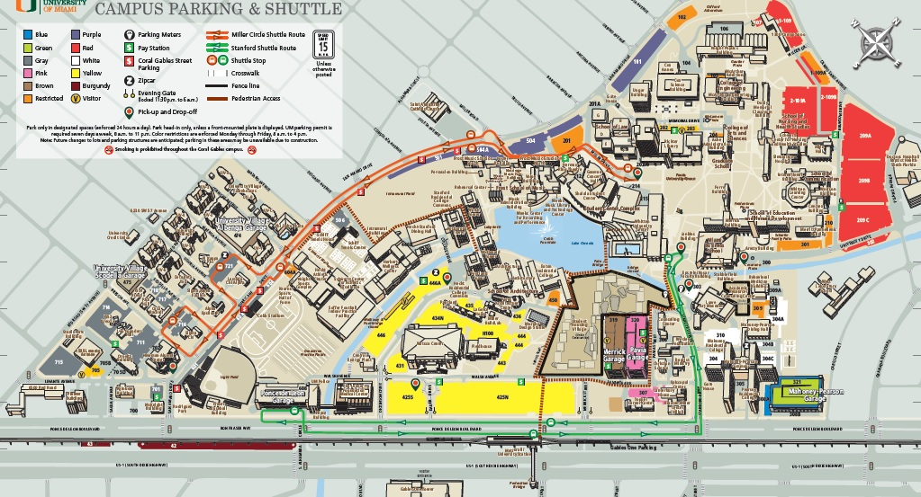 Campus Parking Map Parking And Transportation Real Estate And